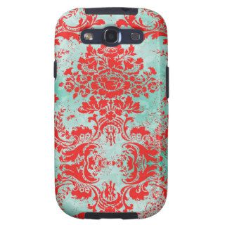 GC Galaxy Vintage Turquoise Blue Red Samsung Galaxy S3 Case