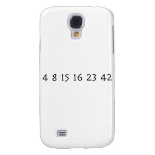 LOST numbers 4 8 15 16 23 42 Samsung Galaxy S4 Covers
