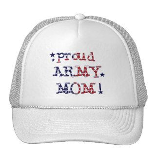 Stars and Stripes Army Mom Trucker Hats