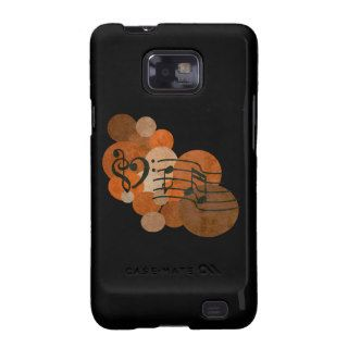 heart clefs musical notes orange polka dots samsung galaxy s covers