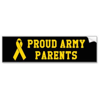 Proud Army Parents Bumper Stickers