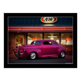 1941 Ford Custom Street Rod Drive In Poster
