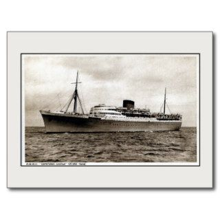 Vintage passenger ship RMMV Capetown Castle Post Card
