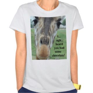 Chocolate Giraffe Tee Shirts