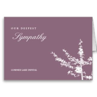 Simple Tree Sympathy Cards Greeting Cards