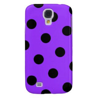 Violet and Black Polka Dots Samsung Galaxy S4 Case