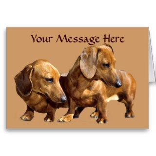 Dachshund Smoothies Greeting Card