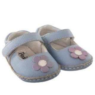 Pedoodles Baby Soft Sole Shoes, Next Step, Doodles, Daisy, Periwinkle, Size 22 28 months (Size 7 8) Shoes