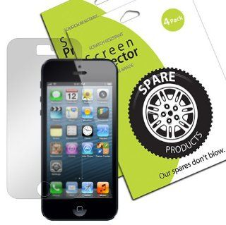 Spare Products Screen Protector Film for iPhone 5 AT&T Verizon Sprint   (4 Pack) Anti Glare Anti Fingerprint NEWEST MODEL