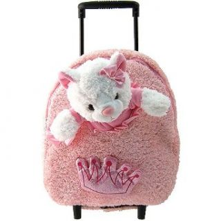 Kreative Kids Girls Pink Princess Cat Plush Wheel Tote Kreative Kids Clothing