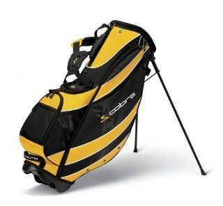 New Cobra Sport Golf Stand Bag Black/Yellow  Golf Carry Bags  Sports & Outdoors