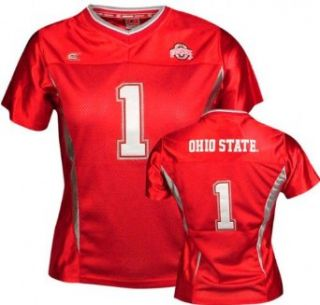 Ohio State Buckeyes Women's Mid Field Football Jersey   X Large  Football Apparel  Clothing