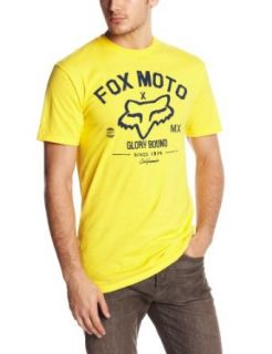 Fox Men's Knowhere Short Sleeve Tee, Yellow, Small at  Men�s Clothing store