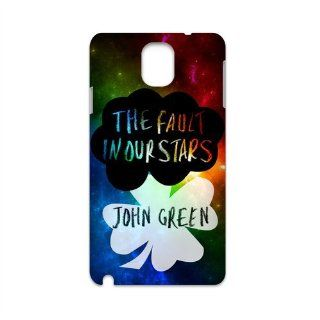 The fault in our stars cute Okay clouds four leaf clover Samsung galaxy Note 3 N9000 hard plastic case Electronics