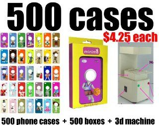 Whoelsale Lot of 500 Phone Cases to Personalized Gift Minime 3d Photo Face for Apple Iphone 4/4s Case   Gold iPack Package (1) phone cases 500 cases. (2) retail boxes 500 boxes. (3) 500 films (4) 3D machine. Business in a box Magically transformed 3D pi