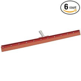 "Carlisle 4007700 Flo Pac Gum Rubber Straight Floor Squeegee with Heavy Duty Steel Frame, 36"" Overall Width, Red (Case of 6)"