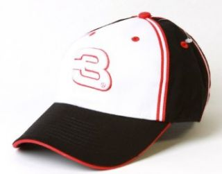 NASCAR Dale Earnhardt Jr #3 Flex Adjustable Hat  White Black at  Men�s Clothing store