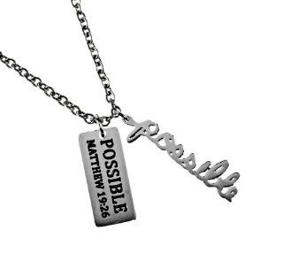 "Christian Womens Stainless Steel Abstinence Cursive Handwriting Adjustable 16"" 20"" Possible ""Love   1 Corinthians 134 8   Love Is Patient, Love Is Kind, Love Never Fails"" Chastity Necklace for Girls   Girls Purity Necklace Jewelry"