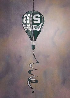 Michigan State Spartans Hot Air Balloon Spinner Michigan State Spartans Hot Air Balloon Spinner  Sports Fan Wind Sculptures  Sports & Outdoors