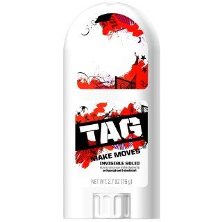 Tag Invisible Solid Anti perspirant, Make Moves, 2.7 Ounce Bottle (Pack of 4) Health & Personal Care