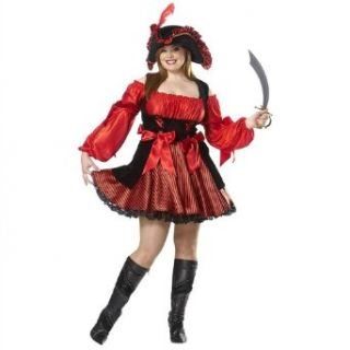 Pirate Wench Adult Plus Size Halloween Costume Size 20 22 XX Large (XXL) Clothing