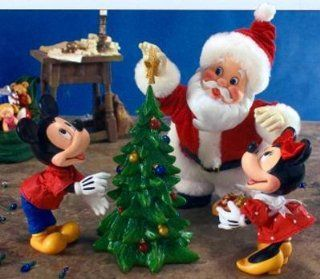 "Clothtique Possible Dreams ""Santa's Final Touch"" Disney Mickey & Minnie  Holiday Figurines"