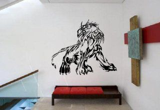 Proud Lion Posture King of Jungle Big Cat Tribal Animal Design Wall Mural Vinyl Decal Sticker M187   Wall Decor Stickers