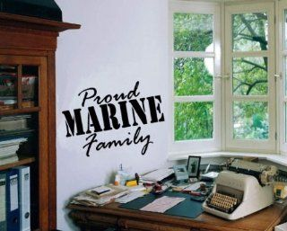 Proud Marine Family Patriotic Vinyl Wall Decal Sticker Mural Quotes Words Hd101   Wall Decor Stickers