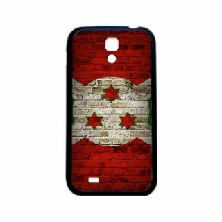 Burundi Brick Wall Flag Samsung Galaxy S4 Black Silcone Case   Provides Great Protection Cell Phones & Accessories