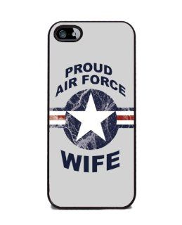 Proud Air Force Wife   iPhone 5 or 5s Cover, Cell Phone Case   Black Cell Phones & Accessories