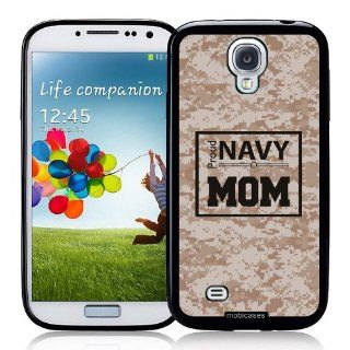 Proud Navy Mom 3 Camo   Protective Designer BLACK Case   Fits Samsung Galaxy S4 i9500 Cell Phones & Accessories