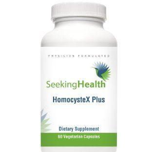 HomocysteX Plus  Provides Vitamins B2, B6, B12, Quatrefolic And Trimethylglycine (TMG)  Supports Methylation and Homocysteine Metabolism 60 Easy To Swallow Vegetarian Capsules Physician Formulated  Seeking Health Health & Personal Care