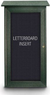 "Outdoor Enclosed Mini Letter Board   34""H x 16""W  Enclosed Message Boards"