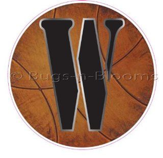 """W"" Basketball Alphabet Letter Name Wall Sticker (5 1/2"" Diameter)   Decal Letters for Children's, Nursery & Baby's Sport Room Decor, Baby Name Wall Letters, Boys Bedroom Wall Letter Decorations, Child's Names. Sports Balls M"