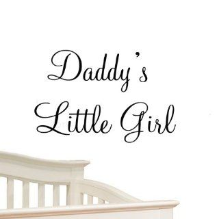 Daddy's Little Girl Nursery Wall Decals Cute Baby Quote Vinyl Nursery Wall Quotes Baby Girl Room Decor   Wall Decor Stickers