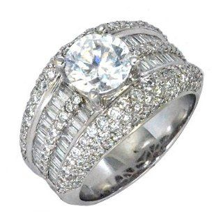 2.17 Ct Diamond Cocktail Style Ring Setting in 18k White Gold Jewelry