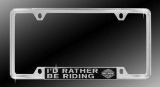 "Harley Davidson ""I'd Rather Be Riding"" license plate frame Automotive"