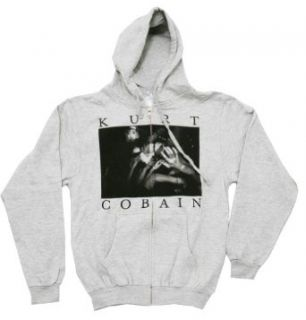 Kurt Cobain Nirvana Rock Band Adult Zip Up Hoodie Hooded Sweatshirt Clothing