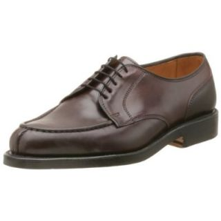 Allen Edmonds Men's Bradley Shell Cordovan Split Toe Oxford,Burgundy w/ Combo Heel,10 B Shoes