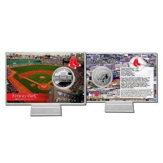 Boston Red Sox Official MLB Fenway Park Silver Plate Coin Card by The Highland Mint 687298  Sports Related Collectible Photomints  Sports & Outdoors