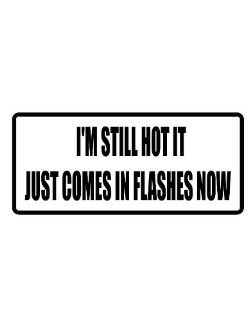 "4"" I'm still hot it just comes in flashes now funny saying Magnet for Auto Car Refrigerator or any metal surface."