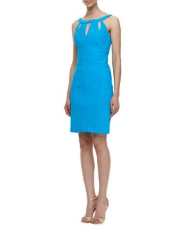 Womens Travel Sleeveless With Cut Out Design Sheaf Travel Dress   Laundry by