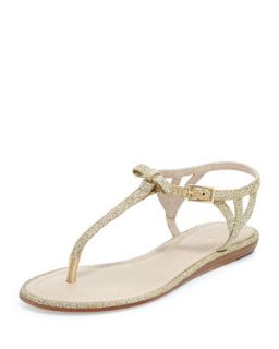 andrea sparkly bow flat thong sandal   kate spade new york   Gold (38.5B/8.5B)