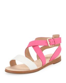 agnes two tone strappy sandal, zinnia pink   kate spade new york   Zinnia pink