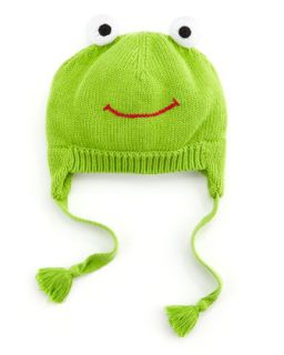 Frog Knit Hat, Green   Zubels   Green (6/12)