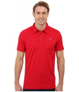 PUMA Golf Tech Polo 14 Mens Short Sleeve Knit (Red)