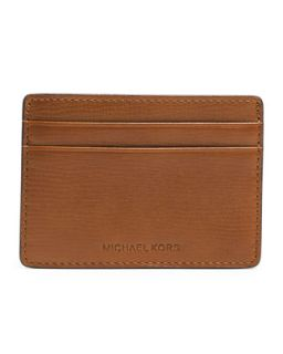 Mens Jet Set Card Case   Michael Kors   Light brown