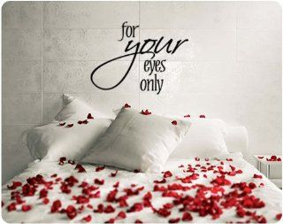 For Your Eyes Only Valentine's Day Saying Wall Decal Decor Words Large Sticker