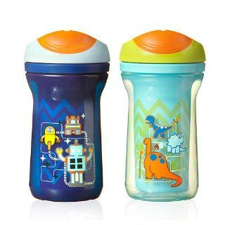 Tommee Tippee Explora Easiflow Boys Cup with Dura Spout BPA Free 9 Oz 2 Pack 12m Colors May Vary  Tommee Tippee Sippy Cup  Baby