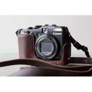 Cosmos Brown Leather Case Cover Bag for Canon Powershot G12 G 12 Camera + Cosmos Cable Tie  Camera & Photo